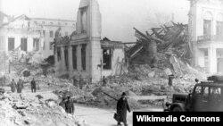 Берлин, 13 марта 1945 года. Развалины министерства пропаганды