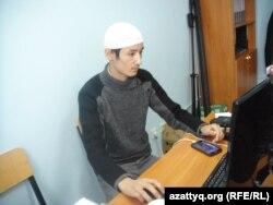 Сотрудник сайта актюбинской мечети «Нургасыр» Женис Дусипов. 12 февраля 2014 года.