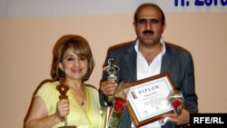 Azerbaijan – RFE/RL correspondents Sevda Ismayilli and Babek Bekir - Gold Key Award winners, Baku, 21Jul2009