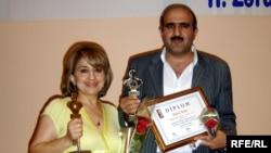Azerbaijan – RFE/RL correspondents Sevda Ismayilli and Babek Bekir - Gold Key Award winners, Baku, 21Jul2009