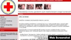 Stranice Crvenog krsta BiH sa pozivom za pomoć Japanu