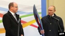 Владимир Путин и принц Монако Альбер II, 4 октября в Москве