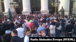Pamje nga protesta e sotme në Shkup