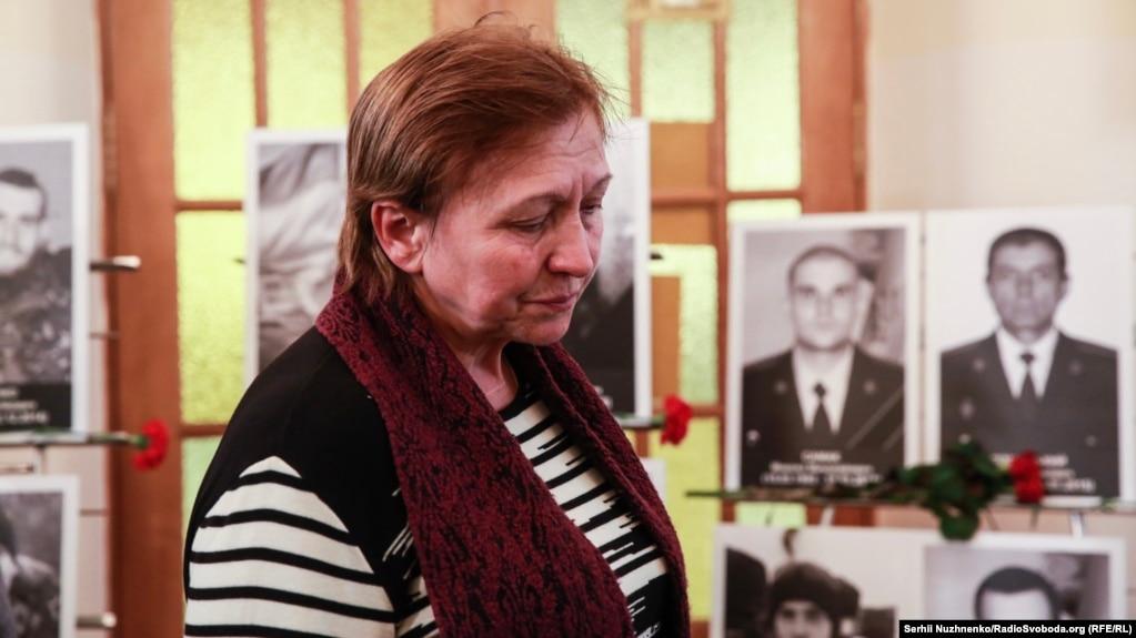 Ніна Брановицька, мама загиблого «кіборга» Ігоря Брановицького, на вечері пам'яті у Центральному будинку офіцерів Збройних сил України
