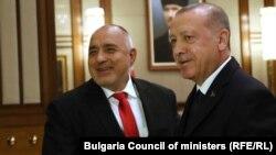 Премиерът на България Бойко Борисов с президента на Турция Реджеп Тайип Ердоган