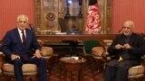 Afghan President Ashraf Ghani (R) and U.S. Special envoy for peace in Afghanistan, Zalmay Khalilzad, met in Kabul on November 10.