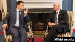 ԱՄՆ փոխնախագահ Մայք Փենսի և Ուկրաինայի ԱԳ նախարար Պավլո Կլիմկինի հանդիպումը, Վաշինգտոն, 10-ը մայիսի, 2017թ․
