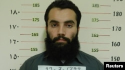 Anas Haqqani, son of the Haqqani network's founder, after his arrest in Afghanistan in 2014.