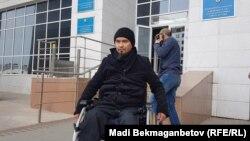 Терроризм бойынша сегіз жыл жазасын өтеп шыққан Жасұлан Сүлейменов. Астана, 20 қыркүйек 2018 жыл.
