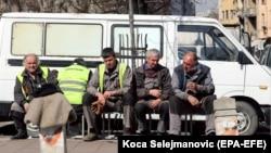 Radnici na pauzi u Beogradu, mart 2019.