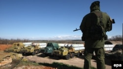 Украинские ракетные комплексы C300 в аннексированном Крыму, 2014 год