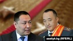 Ички иштер министри Улан Исраилов жана анын орун басары Данияр Абдыкаров.