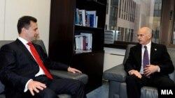 Неодамнешната средба меѓу премиерите на Македонија и Грција, Груевски и Папандреу