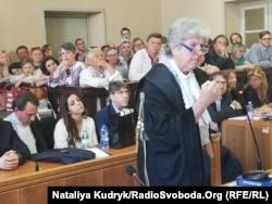 Адвокат Віталія Марківа Раффаеле Делла Валле під час промови