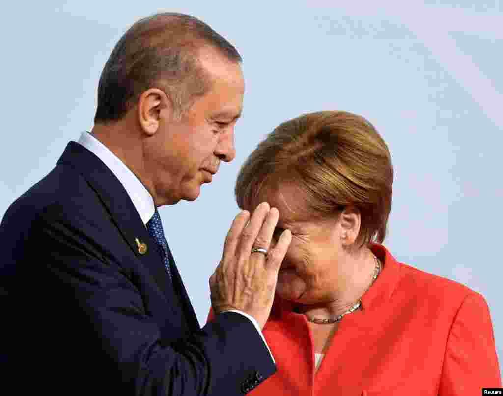 Прэзыдэнт Турцыі Рэджэп Эрдаган і канцлер Нямеччыны Ангела Мэркель