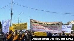 تظاهرة لمهندسين في البصرة يطالبون بتوفير فرص عمل