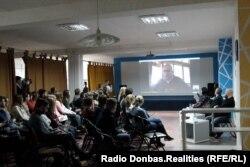 Голова правління громадської організації «Українська народна рада Донеччини та Луганщини» Станіслав Федорчук через Skype