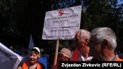 Sa protesta radnika u Sarajevu 30. jula