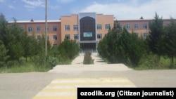 Здание колледжа агробизнеса в Гузарском районе Кашкадарьинской области.