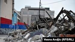 Ruine nakon noćnog rušenja u Hercegovačkoj ulici