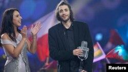 Португальський співак Салвадор Собрал, який переміг на «Євробаченні» в Києві, 13 травня 2017