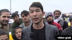 Young Afghan migrants planning to leave for Europe earlier this year.