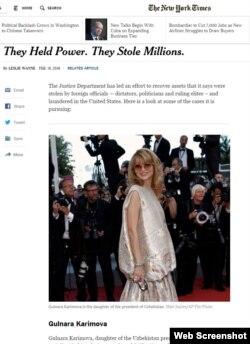 The New York Times gazetasidan olingan lavha