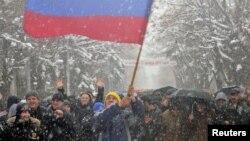 Сторонники Аллы Джиоевой, объявившей себя президентом Южной Осетии