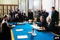 Сустрэча Ярузэльскага і Брэжнева ў Крамлі, сакавік 1982 году