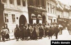 Militari austro-ungari luați prizonieri de români în Transilvania, 1916