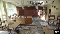 Школьный класс в Луганске