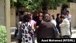 تجمع احتجاجي لمتقاعدين في السليمانية