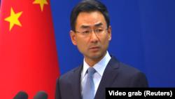 گِنگ شوآنگ، سخنگوی وزارت خارجه چین،. پکن. سپتامبر ۲۰۱۸.