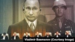 Коллаж с сайта Владимира Басманова, иллюстрирующий обращение в Международный Трибунал в Гааге
