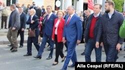 Lideri socialişti la mitingul de 1 Mai