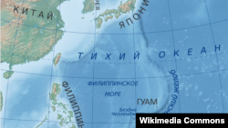 Расположение Марианской впадины в Тихом океане