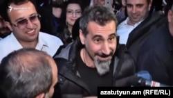 Сэрж Танк'ян падчас «аксамітнайрэвалюцыі» ўАрмэніі ў2018 годзе