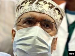 Abdelbaset Ali al-Megrahi at Tripoli Central Hospital in September 2009
