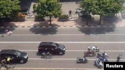 Индонезия полициясы Джакартадағы терактіге күдіктілердің ізіне түсті. Джакарта, 14 қаңтар 2016 жыл.