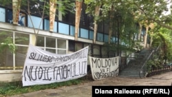 Protestul grupului Occupy Guguţă de lângă fosta Cafenea Guguţă
