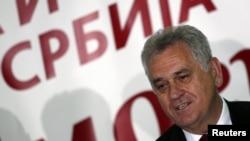 Tomislav Nikolić se obraća medijima nakon rezultata izbora, 6. maj 2012.