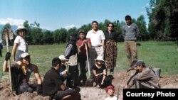 Кочкор-Башы шаар чалдыбарындагы археологиялык казуу учуру. 01.7.2011.