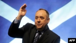 Alex Salmond, the leader of Scotland's Scottish National Party