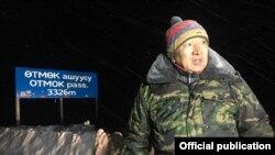 Өкмөттүн Талас облусундагы өкүлү Марат Мураталиев.