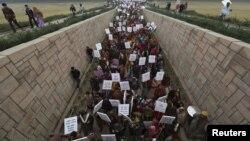Hindistanda etiraz aksiyası