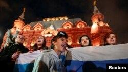 Акция протеста в Москве, Россия, 7 октября 2017 год