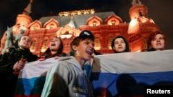 Сторонники Навального в Москве 7 октября 2017 года