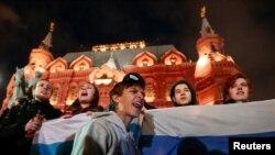 Навальный тарафдарлары урам чарасында. 7 октябрь, 2017