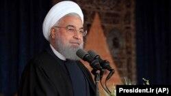 د ایران ولسمشر حسن روحاني.