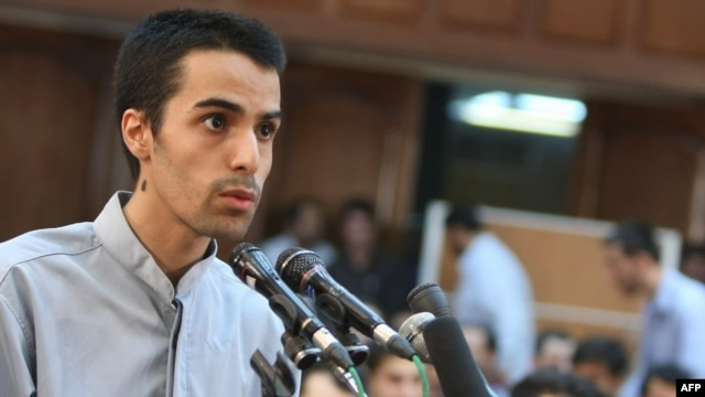 Arash Rahmanipour defends himself in court in August 2009. He was executed on January 28.